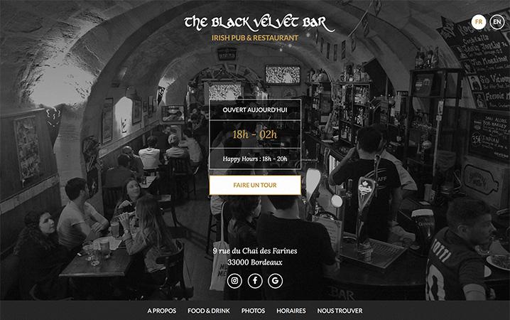 Black Velvet Bar - Bouge ton web